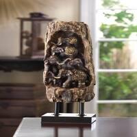 Carved Elephant Totem Decor