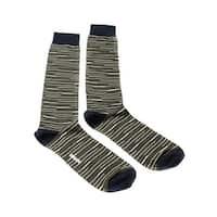 Missoni GM00CMU5231 0002 Olive/Navy Striped Knee Length Socks - L