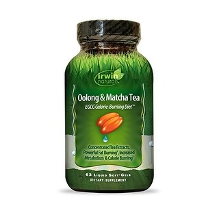 Irwin Naturals - Oolong & Matcha Tea EGCG Calorie Burning Diet - 63 Tabs