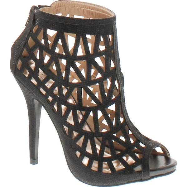 Bonnibel Cleo-3 Women's Back Zipper Stiletto Heel Cut Out Caged Sandals