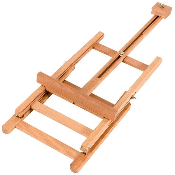 Shop Costway Portable Wood Tabletop Easel H-Frame Adjustable