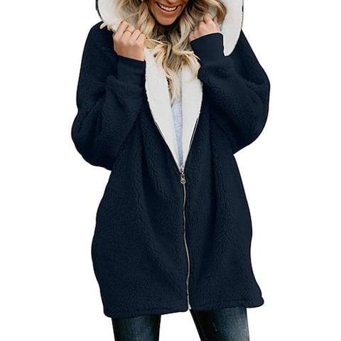 2018 Autumn And Winter New Lamb Hair Zipper Cardigan Warm Jacket Plush Sweater