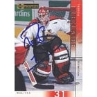 Pascal Leclaire Halifax Mooseheads Columbus Blue Jackets 2001 Upper Deck Prospects Autographed Card Rookie Card T