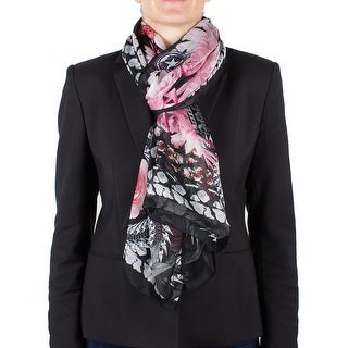Givenchy Women's Chain Border Floral Pattern Silk Scarf Large