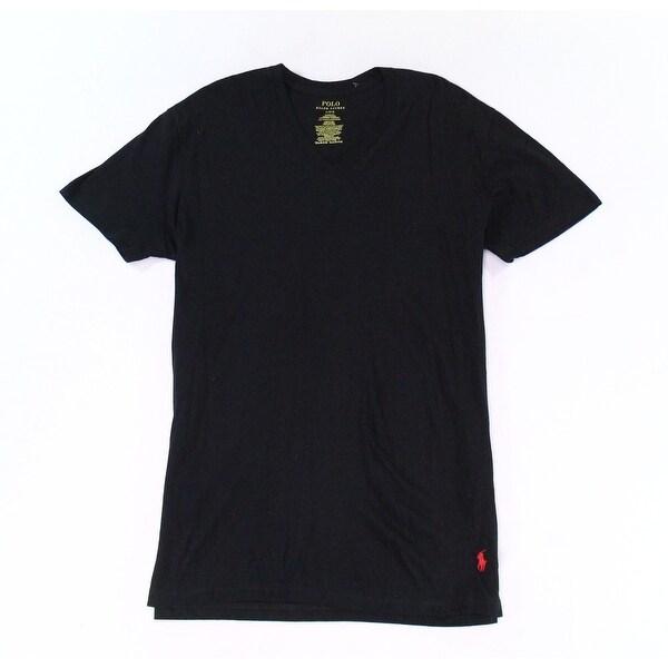 L Deep Black Size Large Tee Mens Ralph T Neck Polo V Lauren Shirt WH2YDE9I