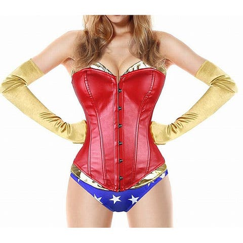 BS Lingerie Womens Costume Red Size Small S Wonder Woman Complete Outfit