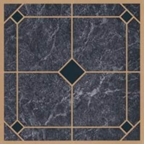 Mintcraft CL2002 Vinyl Floor Tile, Blue/Gold