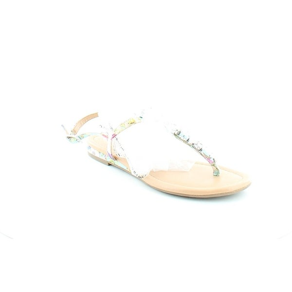 Bar III Womens BLANCHETTE Split Toe Casual T-Strap Sandals
