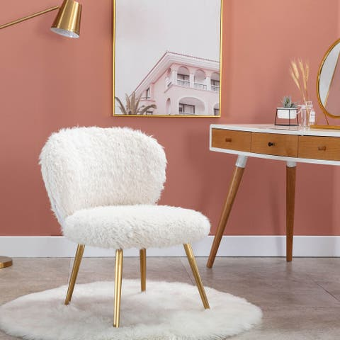 Porthos Home Hazel Dining Chairs, Plush Upholstery, Gold Metal Legs