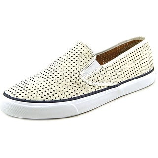 Sperry Top Sider Seaside Perforated Round Toe Leather Sneakers