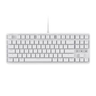 Monoprice Brown Switch Tenkeyless Mechanical Keyboard - White - Workstream