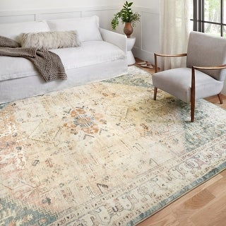 Link to Alexander Home Juliet Ultra-Soft Distressed Framed Persian Rug Similar Items in Rugs