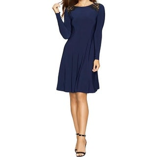 American Living Womens Party Dress Matte Jersey Lace Inset