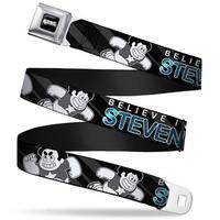 Steven Universe Logo Full Color Black White Steven Universe 2 Poses Believe Seatbelt Belt