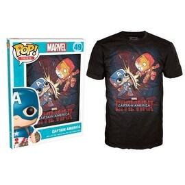 Funko Pop Black Marvel Civil War Fight T-Shirt