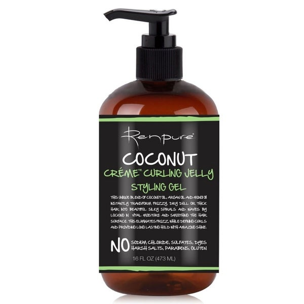 Renpure Coconut Creme Curling Jelly Styling Gel, 16 oz