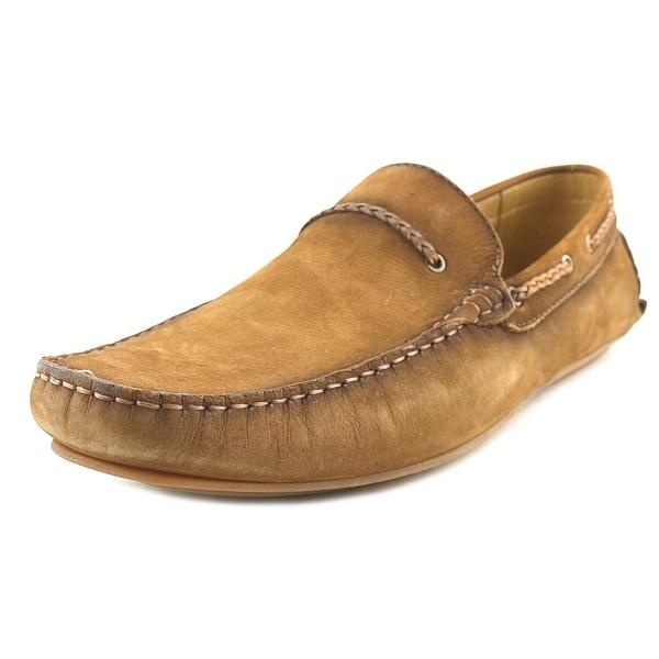 Mike Konos Bit Moc Men Square Toe Leather Tan Loafer