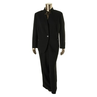 Tahari ASL Womens Veronica Notch Collar 2PC Pant Suit