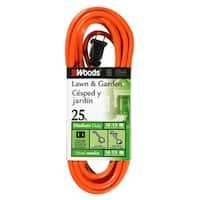 Coleman 0722 16/2 Vinyl SJTW Extension Cord, Orange, 25-Feet