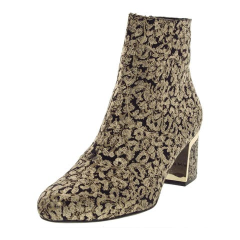 DKNY Womens Corrie Ankle Boots Brocade Dress