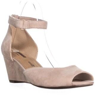 Clarks Flores Raye Wedge Heel Sandals, Sand Suede
