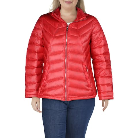 Spyder Womens Syrround Down Coat Insulated Athletic - Hibiscus/Hibiscus - XL