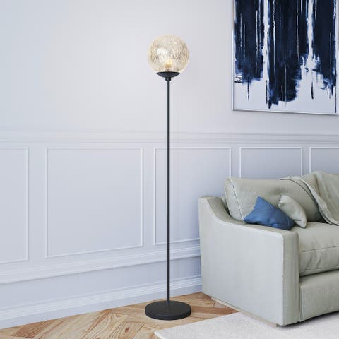 Silver Orchid Forster Mercury Glass Floor Lamp