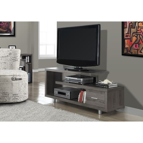 Monarch 2574 Dark Taupe 60nch Tv Stand w/ One Drawer