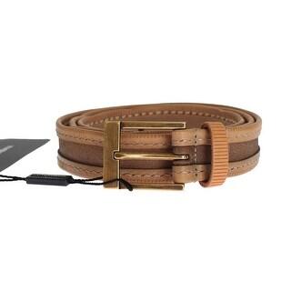 Dolce & Gabbana Dolce & Gabbana Brown Leather Gold Belt