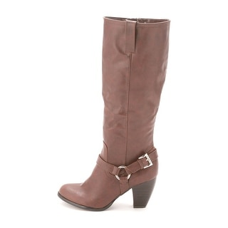 Style & Co. Womens LEIGHH Almond Toe Knee High Cowboy Boots