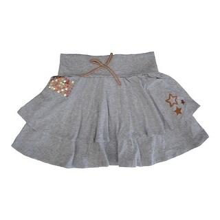 Disney Girls Grey High School Musical Glitter Sequin Bow Tiered Skirt 8-16