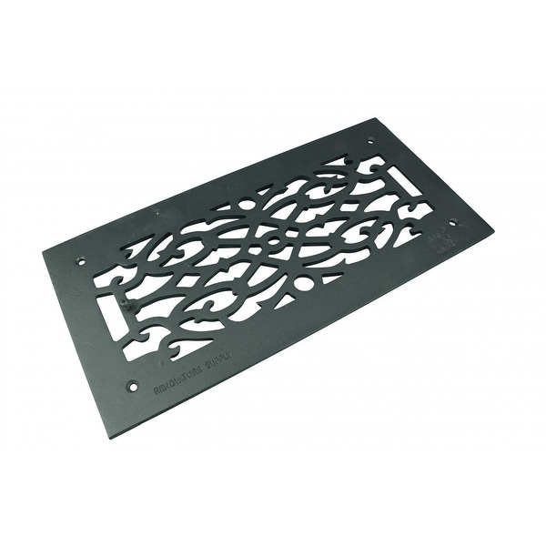 Heat Air Grille Cast Victorian Overall 8 x 16 | Renovator's Supply