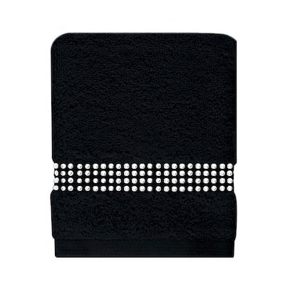 Sparkles Home Rhinestone Stripe Fingertip Towel (Set of 2)