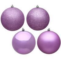 Vickerman  Orchid 4 Finish Ball Ornament, 6 in. - Box of 4