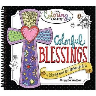 The Coloring Cafe' Coloring Book-Colorful Blessings