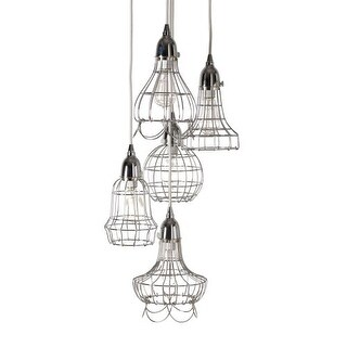Dimond Home 225039 Silver Wire 5 Light Pendant