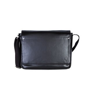 Scully Men's Leather Corporate Messenger Bag - Black
