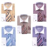 Men's Stripe Two Tone French Cuff Shirt Cufflinks