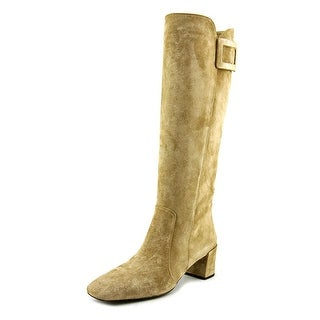 Roger Vivier Stiv Ale t.45 F.Ric. Women Square Toe Suede Brown Mid Calf Boot