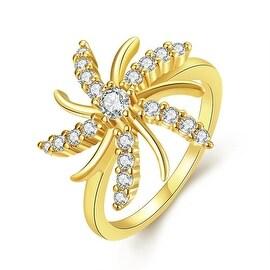 Spiral Stars Gold Ring