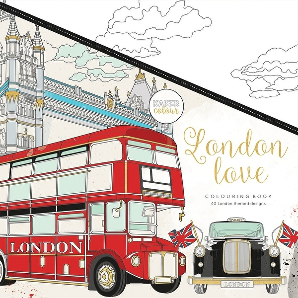 "KaiserColour Perfect Bound Coloring Book 9.75""X9.75""-London Love"
