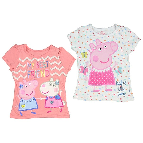 Peppa Pig Little Girls Toddler T Shirts Pack Of 2 Overstock 20881140