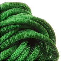 Rayon Satin Rattail 2mm Cord - Knot & Braid - Kelly Green (6 Yards)