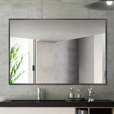 Carbon Loft Aluminum Alloy Frame Rectangular Wall-mounted Bathroom Mirror