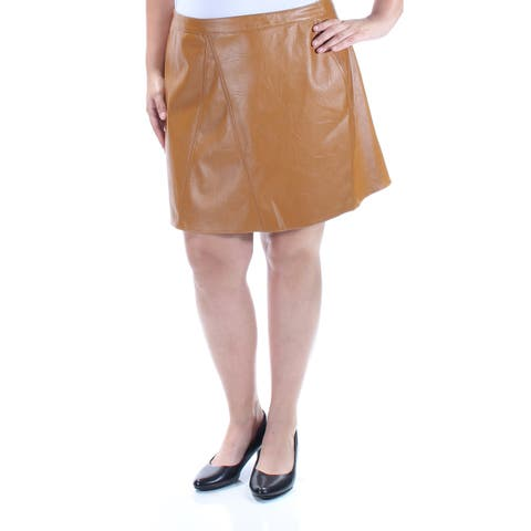 BAR III Womens Brown Above The Knee A-Line Skirt Size: M