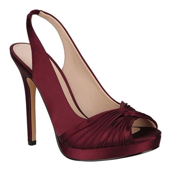 344ec46687d Shop Nina Women s Felyce Slingback Dark Wine Crystal Satin - Free ...