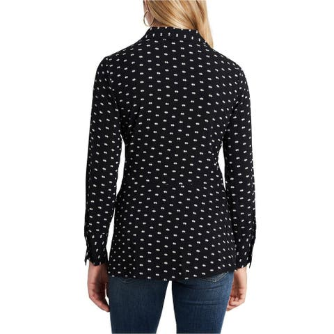Vince Camuto Womens Twist Front Collared Blouse - A OR SMALL