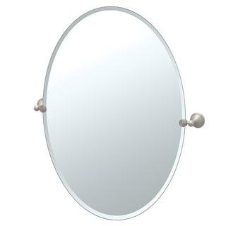 Gatco 4599LG  Laurel Ave. Large Oval Beveled Tilting Wall Mirror - Satin Nickel