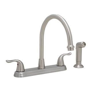 ProFlo PFXC6880 1.8 GPM Double Handle Kitchen Faucet with Side Spray