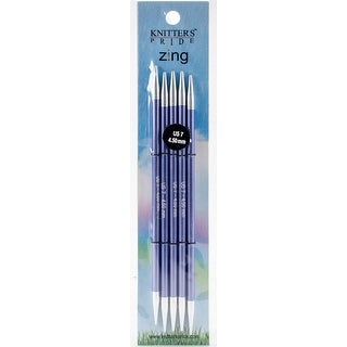 "Knitter's Pride-Zing Double Pointed Needles 6""-Size 7/4.5Mm"